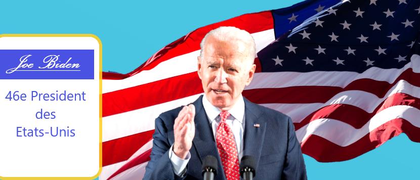 Joe Biden élu 46e président desEtats-Unis.
