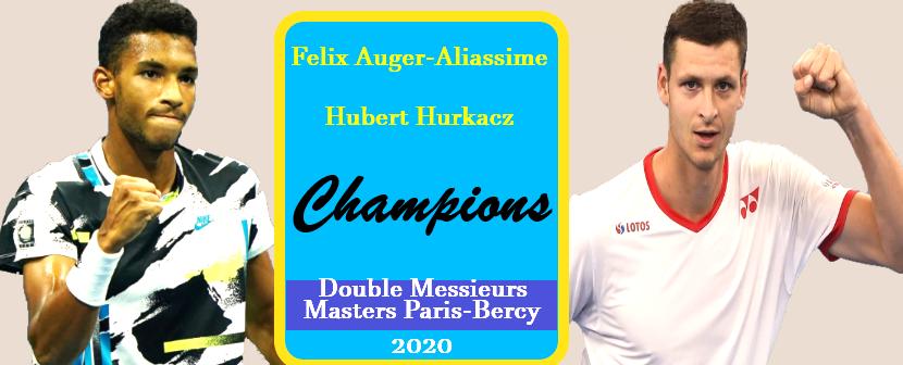 Félix Auger-Aliassime et Hubert Huckacz champions àParis