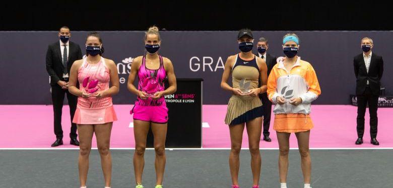 Tennis: La canadienne Eugénie Bouchard s'incline en double àLyon