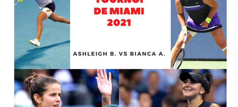 Tournoi de Miami: Naomi éliminée, Bianca enfinale